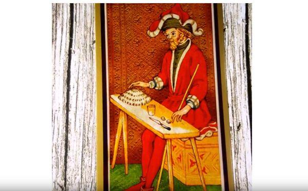 Таро Маг с колоды Висконти-Сфорца