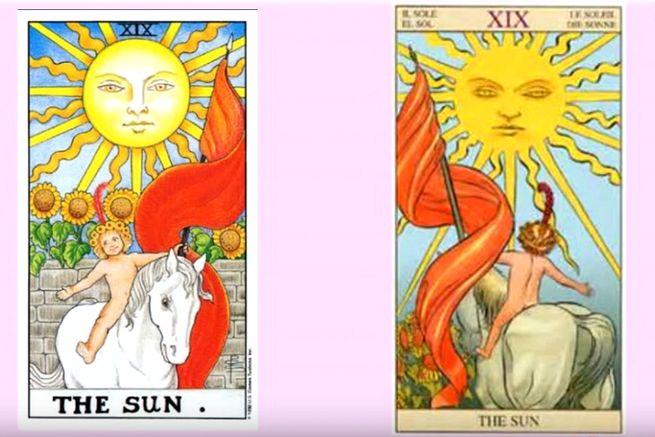 Солнце таро символизирует свет