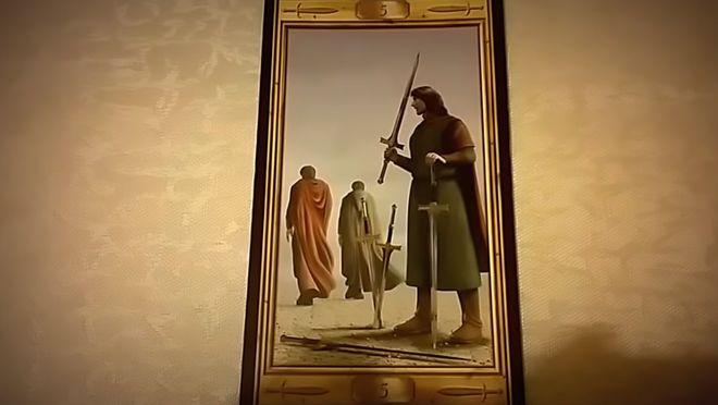 Появление Пятерки Мечей символизирует упреки